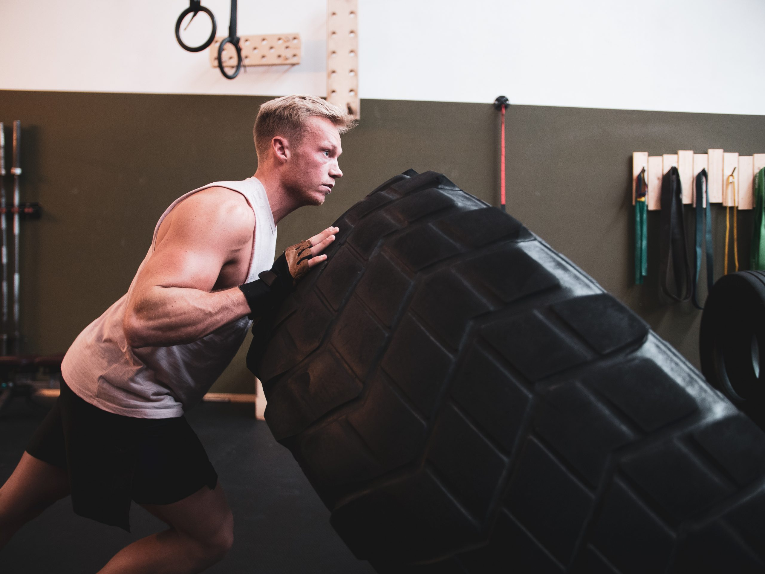 crossfit with large tire